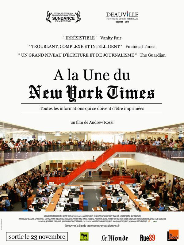 A la une du New York Times - Documentaire (2011) streaming VF gratuit complet
